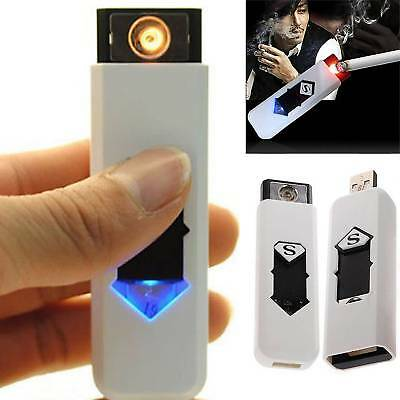 USB Electric Rechargeable Flameless Collectible Cigarette Lighter Battery Hot O2