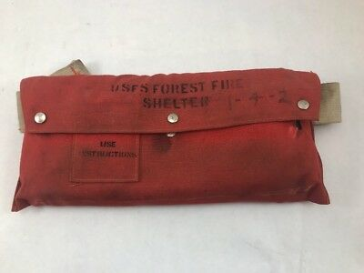 Vintage USFS emergency fire shelter SHIELD forest service SAFETY SURVIVAL