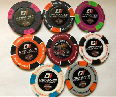 Defiance Harley Davidson Full Color Collectible Poker Chip