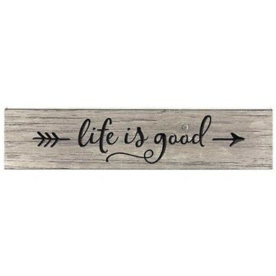 "Rustic Primitive Engraved Sign ""Life Is Good"" Home Decor Barn Wood Finish"