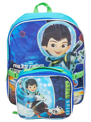 """Toddlers Miles From Tomorrowland Backpack 12"""" & Insulated Lunch Bag 2Pc"""