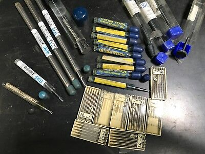 Lot of various carbide and HSS burs rotary file bits deburring SGS Busch Grobet