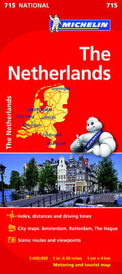 Netherlands Map - Michelin 715 - New - Current Edition