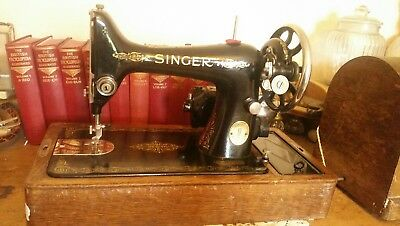 STUNNING VINTAGE SINGER 99k ELECTRIC SEWING MACHINE WITH BENTWOOD CASE & PEDAL