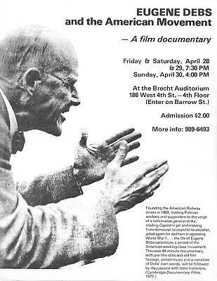 Eugene Debs -- Flyer For 1978 Documentary On Socialist Party Icon Debs