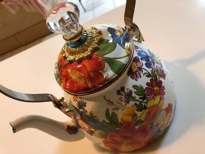 NWOB McKenzie Childs 2Qt Flower Tea Pot $110.00