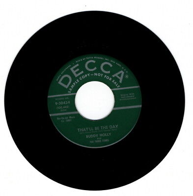 """Original Buddy Holly Green Label Promo """"that'll Be The Day"""""""
