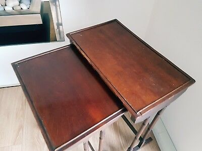 2 x old vintage coffee tables