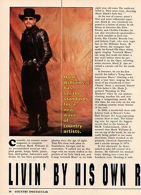 Hank Williams Jr 2 Page Magazine Article Clipping 2 Pictures Country Music