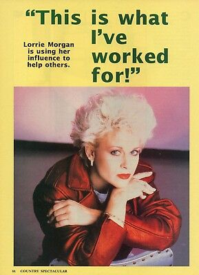 Lorrie Morgan 2 Page Magazine Article Clipping 3 Pictures Country Music