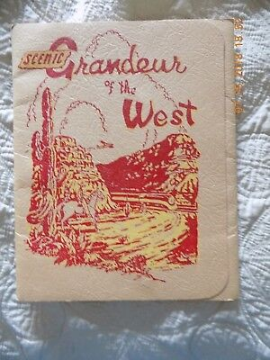 SCENIC GRANDEUR OF THE WEST 16 Colored Views 1943 Sthrn Pacific Railroad Lines