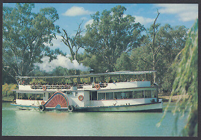 RETRO 1978 PADDLE STEAMER MURRAY RIVER,  20c POSTCARD,  NEW