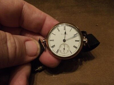 RARE Elgin 7 Jewels Watch with 1933 World's Fair Wrist Band ~ Marked: B&N 1/5