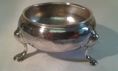 Antique George II Silver Salt Dish - London 1754 - 42 gms.