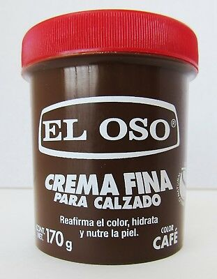 El Oso Fine soft Cream shoe shine wax Brown leather 170 g- 5.99 oz