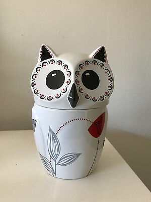 The Cellar Whiteware Owl Cookie Jar Made Exclusively For Macy's