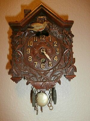Vintage LUX Miniature Novelty Cuckoo Clock MADE BY WATERBURY---Very Collectible!