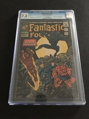 Fantastic Four #52 CGC 7.5 (Off-White to White Pages) - 1st App of Black Panther