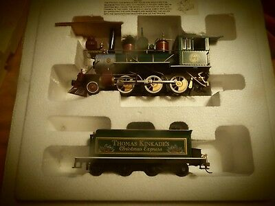 Thomas Kinkade Hawthorne Christmas Express Train Set Village Bachmann NEW