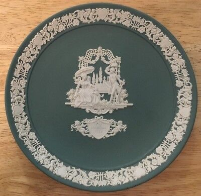 Vintage 1984 WEDGWOOD Valentine's Day LIMITED EDITION PLATE Green Jasperware
