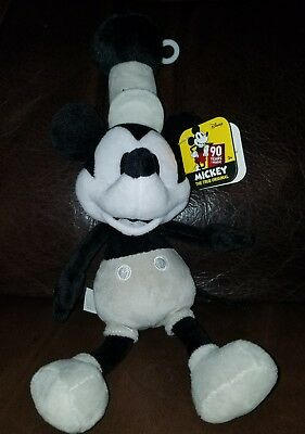Disney Mickey Mouse 90th Anniversary Steamboat Willie  Plush