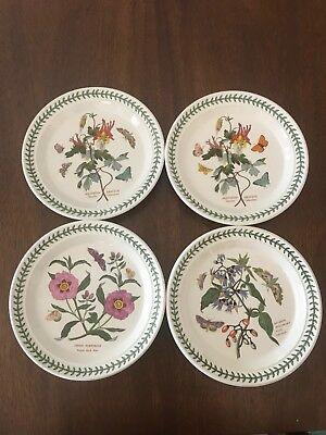 Set of 4 Portmeirion Botanic Garden 8 1/2 Inch Salad Plates Excellent Condition