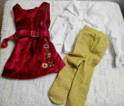 American Girl Julie Christmas Historical Outfit~Jumper~Blouse~2 Pieces~AG tags
