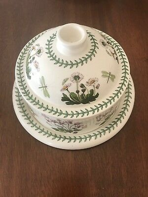 Portmeirion Botanic Garden Christmas Rose Cheese Plate With Dome Lid  - England
