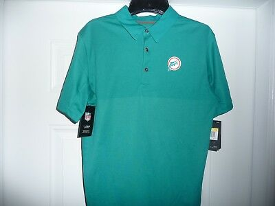 70dd6d73 NWT NFL MIAMI Dolphins Nike Onfield Apparel Polo Retro Logo Size Mens Small