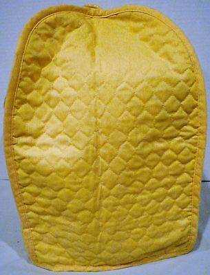 Vintage Tall Yellow Quilted Appliance Cover