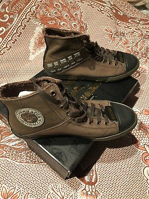 MENS SKECHERS STAR WARS CHEWBACCA HIGH TOP BROWN SNEAKERS US 10.5 NEW w/BOX SOLO