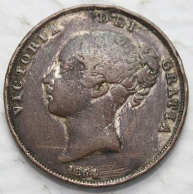 Great Britain 1854 Penny, Old Date Queen Victoria