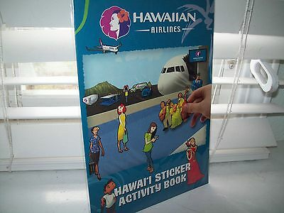 Hawaiian Airlines Activity Sticker Book NEW