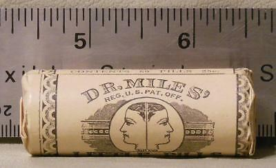 Old Pharmacy Stock  Dr. Miles' Little Pills  Wrapped, unopened Patent Medicine
