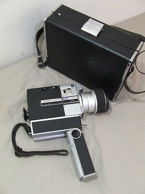 Sankyo 600 Cm 8Mm Film Movie Camera In Case Functiong Very Good Cosmetics