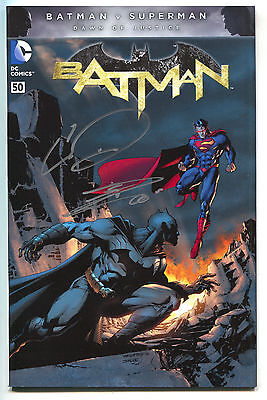 Batman 50 DC 2016 NM Signed Chris Daughtry Danny Miki Color Variant Jim Lee