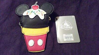 Loungefly Mickey Mouse Ice Cream Keychain Pouch