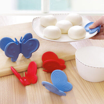 Convenient Butterfly Shaped Silicone Anti-scald Devices Kitchen Useful Tool