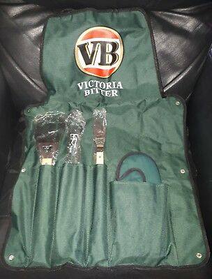 Rare Collectable Vb Victoria Bitter Beer Bbq Apron & Bbq Tool Set Brand New