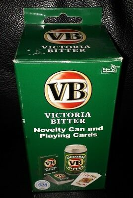 Rare Collectable Vb Victoria Bitter Novelty Beer Can & Deck Of Cards Brand New