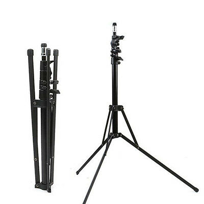 7ft Portable Foldable Studio Strobe Flash Light Stand  2m Adjustable Metal Mount