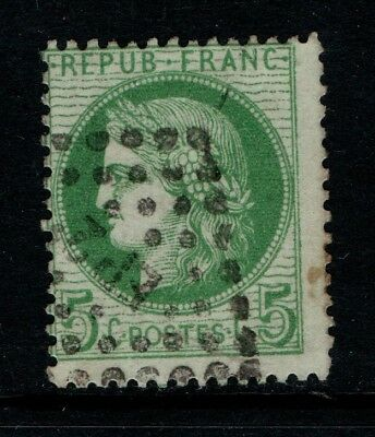 France 1870 5c green SG 191 Used