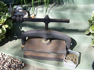 Antique Vintage Cast Iron Book Press Binding