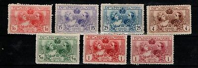 Spain 1907 Madrid Expo set complete (reprint?) MNH