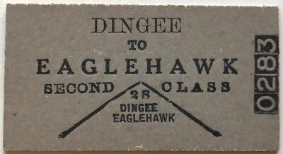 VR Ticket - DINGEE to EAGLEHAWK - 2nd Class Single