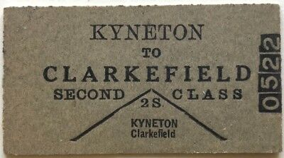 VR Ticket - KYNETON to CLARKEFIELD - 2nd Class Single