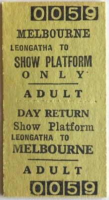 VR Ticket - Melbourne to SHOW PLATFORM Only Day Return - Issued at LEONGATHA