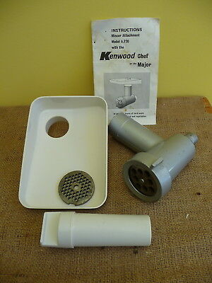 Vintage Kenwood Chef Mincer Attachment suits A720 and Major