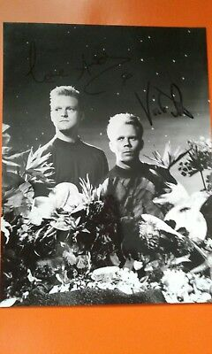Erasure RARE  EIS  FANCLUB signed photo   vince Clarke andy bell