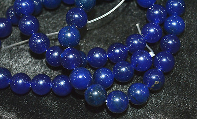 Rare 8mm Natural Blue Sapphire Gemstone Round Loose Beads 15'' AAA
